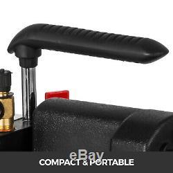 8CFM 2-Stage Refrigera Vacuum Pump Rotary Vane 1HP AC R134a R410a 500 ML HVAC