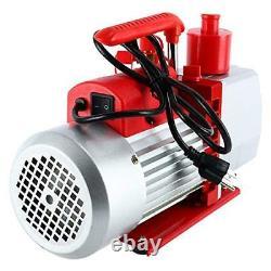 8CFM Two-Stage Rotary Vane Vacuum Pump (0.3Pa, 1HP) for HVAC/Auto AC Refrigerant