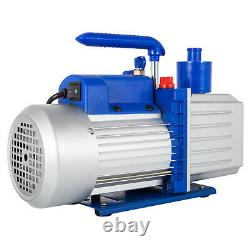 9CFM 2 Stages Vacuum Pump 1HP Air Conditioning 110V/50-60HZ Refrigeration