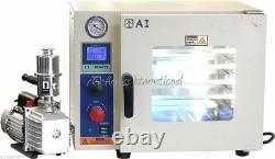Ai 110V UL/CSA 0.9 CF Vacuum Oven with St St Tubing, 110/220V 7 CFM Pump