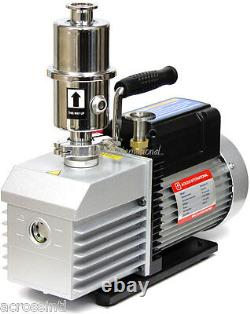 Ai 220V EasyVac 8 cfm 2-Stage Vacuum Pump with Mist Filter Fittings Vacuum Oven