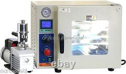 Ai UL/CSA Certified 0.9 CF Vacuum Oven with 110V/220V EasyVac 9 cfm 2-Stage Pump