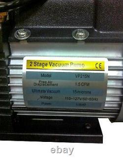 Bomba de Vacio 1/6HP 115V 2 Etapas 1.5 CFM / 2 Stage Vacumm Pump