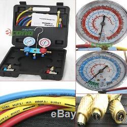 COMBO 3.5 CFM VACUUM PUMP R134a R12 HVAC MANIFOLD GAUGE 4 REFRIGERATION SERVICE