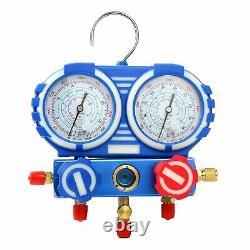 Combo 3,5CFM 1/4HP Air Vacuum Pump HVAC + R134A Kit AC A/C Manifold Gauge Set CA