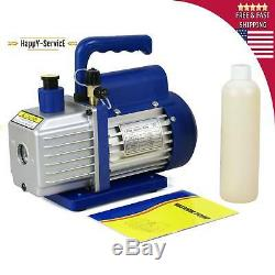 Combo 3,5CFM 1/4HP Air Vacuum Pump HVAC + R134A Kit AC A/C Manifold Gauge Set Oi