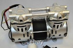 Dry Run Twin Piston Oil-less Vacuum Pump 3.5 CFM High Efficiency Workshop Lab