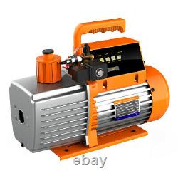Elitech SVP-7 Vacuum Pump 7 CFM 2 Stage Intelligent HVAC+ILD-300 Leak Detector
