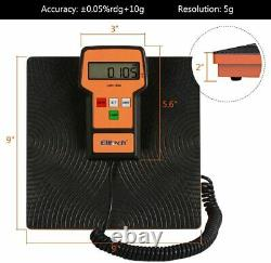 Elitech SVP-7 Vacuum Pump 7 CFM 2 Stage Intelligent HVAC+LMC-100A Charging Scale