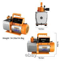 Elitech SVP-7 Vacuum Pump 7 CFM 2 Stage Intelligent HVAC+LMC-210 Charging Scale