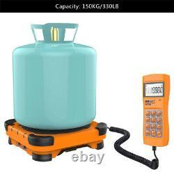 Elitech SVP-7 Vacuum Pump 7 CFM 2 Stage Intelligent HVAC+LMC-300A Charging Scale