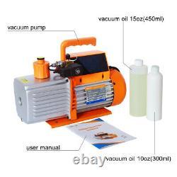 Elitech SVP-7 Vacuum Pump 7 CFM 2 Stage Intelligent HVAC+LMC-310 Charging Scale