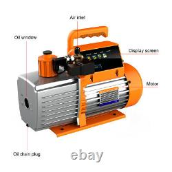 Elitech SVP-7 Vacuum Pump 7CFM 2 Stage Intelligent HVAC Refrigerant Recharging