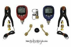Elitech SVP-7 Vacuum Pump Intelligent 7 CFM 2 Stage PT-500&PT-800 Wireless Gauge