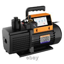 Elitech V1200 Rotary Vane Vacuum Pump 9CFM 2 Stage Intelligent HVAC Refrigerant