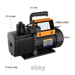 Elitech V900 Rotary Vane Vacuum Pump 9CFM 2 Stage Intelligent HVAC Refrigerant