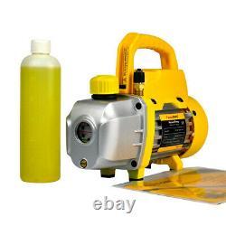 FAVORCOOL 3CFM 1/4HP Vacuum Pump AC Manifold Gauge Set Combo for R410A R134A R22