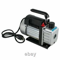 FDA 5 Gallon Degassing Chamber Silicone Kit 3CFM Vacuum Pump Hose CA