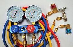 HVAC Tool KitDeep Vacuum Pump 6cfm+Leak Detector Heated Sensor+Manifold Gauge++