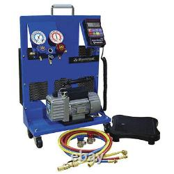 Mastercool 91580-A Portable Charging Station with 1.5 CFM Vacuum Pump