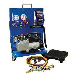 Mastercool 91580-B Portable Charging Station with 3 CFM Vacuum Pump