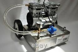 Milker BaseSS Mobile Base Oilless Vacuum Pump Tank 5.5CFM 3/4HP Regulator Gauge