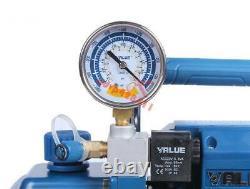 One Stage Vacuum Pump Rotary Vane with Gauge 4.3CFM 1/3HP Air Refrigeration 2Pa