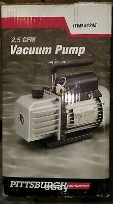 Pittsburgh Automotive 2.5 CFM AC Refrigeration Vacuum Pump 61245 BRAND NEW