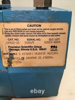 Precision Vacuum Pump Model DD20 0.7 CFM 5 Micron