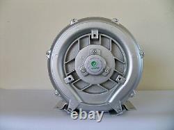 REGENERATIVE BLOWER 0.37HP 50CFM 48H2O press, 220V/1Phase, Side channel blower