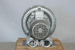 REGENERATIVE BLOWER 2.0HP 150CFM 56H2Opress, 220/480V 3Ph Side Channel Blower