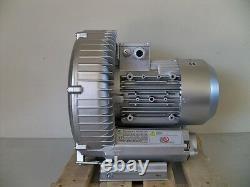 REGENERATIVE BLOWER 2.3HP 150CFM 72H2O press, 220V 1Phase, Side channel blower