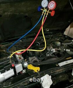Refrigeration Vacuum Pump AC Air Manifold 2.5 CFM HVAC R134A R12 R22 Automotive
