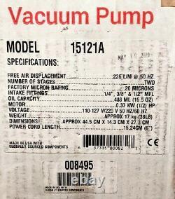 Robinair Vacuum Pump 15121A, 10CFM, 110-127V/220V, 2-Stage