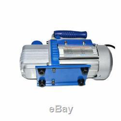 Rotary Vane Deep Vacuum Pump 2.12CFM 1/5HP HVAC Tool 2PA 220V Air Conditioning