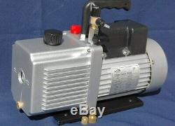 Rotary Vane Vacuum Pump 12CFM 3/4HP 29Hg HVAC Milker Machine Hookup+Check Valve