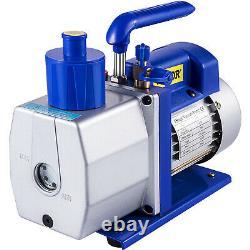 Single Stage Vacuum Pump 7 CFM 1/2 HP Rotary Vane VEVOR AC New Deep HVAC