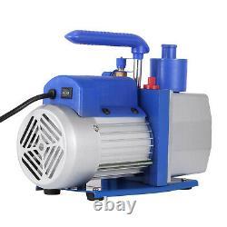 Single Stage Vacuum Pump 7CFM 1/2HP Rotary Vane 250ml Electric 198L/MIN Air Tool