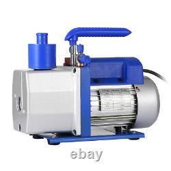 Single Stage Vacuum Pump 7CFM 1/2HP Rotary Vane Conditioning Air Tool Deep HVAC