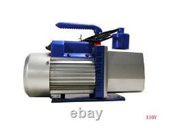 TECHTONGDA 110V 7CFM Rotary Vane Double Stage Vacuum Pump Overall Design