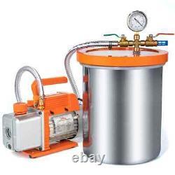 Topshak TS-VP1 Vacuum Pump With 3 Gallon Vacuum Chamber and 1/4 HP 220V 2.5 CFM/