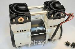 Twin Piston Oilless Vacuum Pump 10 CFM Science Medic Dental Workshop Continuous