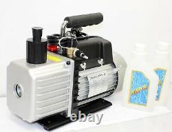 Two Stage 3.5CFM AC HVAC Vacuum Pump 1/3HP 110V R134A MEDICAL, PRINTING, PACKING
