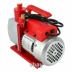 Two-stage Rotary Vane Vacuum Pump Advanced 5 CFM 2 Stage 1/2HP HVAC with Gauge