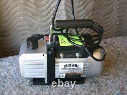 US General 2.5CFM vacuum pump 98076 115V 60Hz 1/6Hp 1720RPM oil capacity 200ml