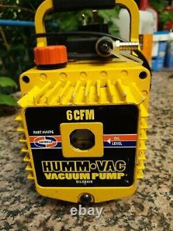 Uniweld HVP6 Humm-Vac 6 CFM High Performance Vacuum Pump