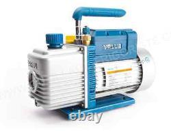 VALUE 2 STAGE 4.5 CFM VACUUM PUMP DESICCATOR VE245N 1/2HP ULTIMIATE 15Micron