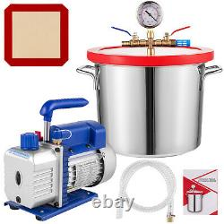 VEVOR 2 Gallon Vacuum Chamber and 3 CFM Single Stage Pump to Degassing Silicone