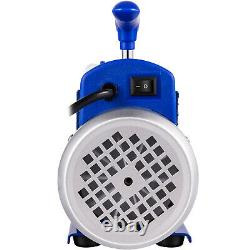 VEVOR 3.6 CFM 1/4HP Rotary Vane Air Vacuum Pump HVAC A/C Refrigeration Kit AC