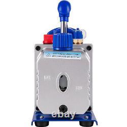 VEVOR 3.6CFM 1/4HP Vacuum Pump 4 Valves Manifold Gauge R12 R22 R134a R410A